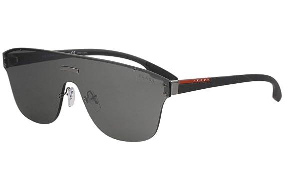 4b3c9ec16339 Prada Linea Rossa Men's 0PS 57TS Gunmetal/Grey Rubber/Grey Mirror/Silver One