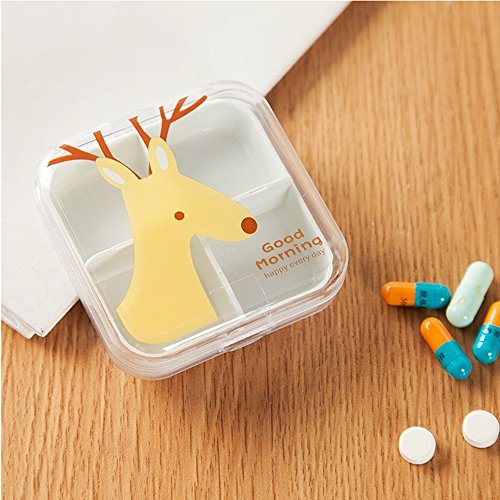 (Pill Organizer Box With Splitter for Children Parents Travel Medication Reminder Fish Oils and Vitamin)