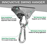 Yes4All Wood Beam Heavy Bag Hanger/Heavy Duty Swing Hanger - 180 Degree Rotation Ring Punching Bag Hanger, C. 180 Degree Ring