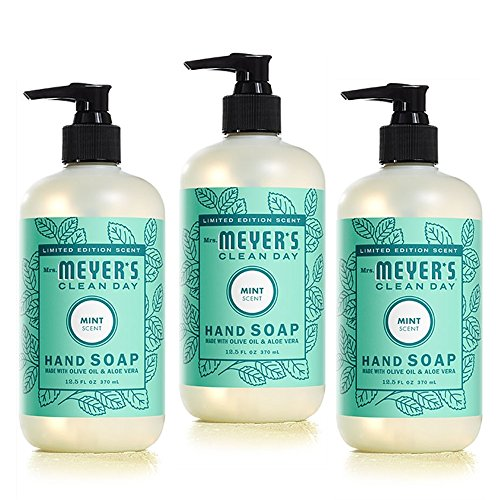 Mrs. Meyer's Clean Day Limited Edition Spring Mint Set of 3 Liquid Hand Soaps