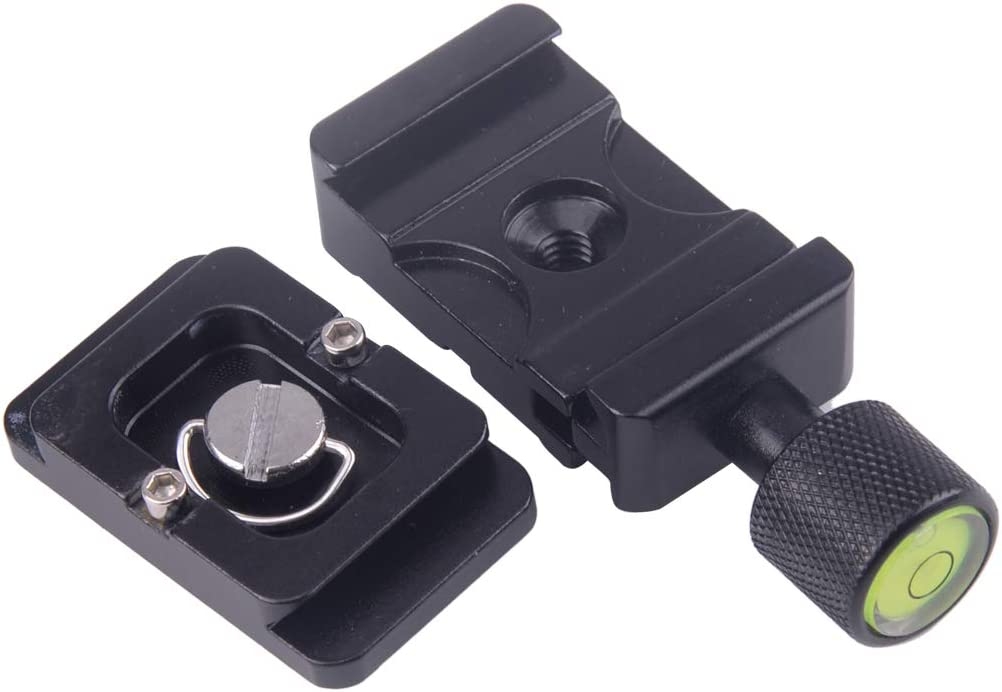 K-30 1//4Quick Release Fast Mounting Plate 30mm Clamp Fit for Camera Camcorder Tripod Monopod Plastic/&Aluminum Alloy