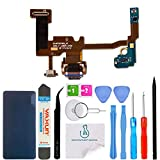 OmniRepairs USB Charging Dock Port Flex Cable Daughterboard Replacement with Microphone Compatible for Google Pixel 2 XL 6.0 (All Carriers) with Adhesive and Repair Toolkit