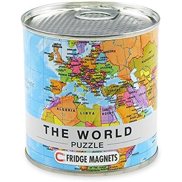 Extra Goods- Puzzle Magnético Mapa Mundo, Multicolor, 33 x 23 cm ...