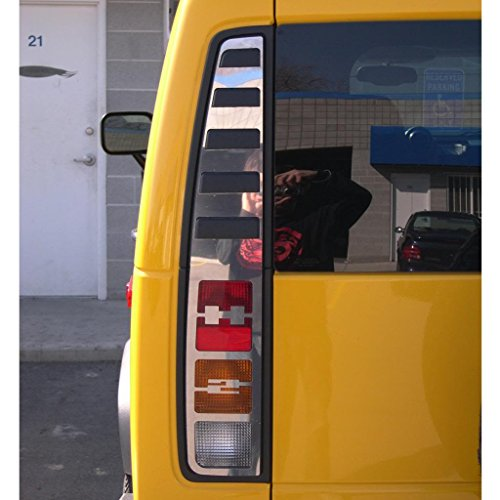 Ferreus Industries Polished Stainless Brake Light Trim fits: 2003-2009 Hummer H2 OTH-100-02