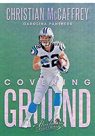 2018 Absolute Football Covering Ground  10 Christian McCaffrey Carolina  Panthers Official NFL Trading Card made 28ab25a5e