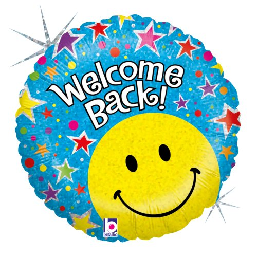 Betallic 86691P Welcome Back Holo Foil Balloon Pack, -