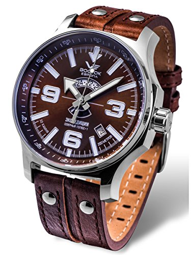 Vostok-Europe Expedition Russian Brown Automatic Watch 2432/5951274 Limited Edition