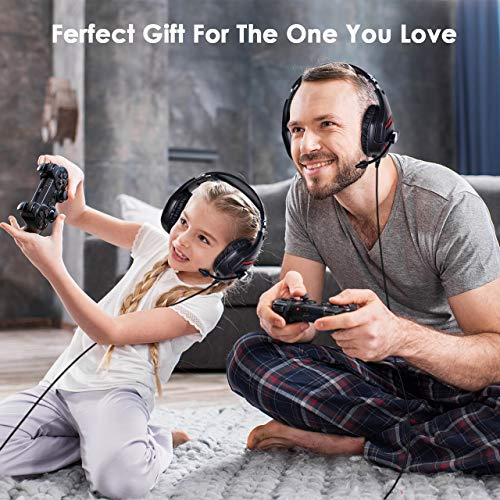 ONIKUMA Gaming Headset PS4 Gaming Headset for PC, Xbox One, Controller,  PS4, Mac, NS 【50mm Driver】【7 1 Surround Sound】 Over-Ear Gaming Headphones  with