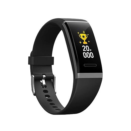 Pulsera Inteligente Reloj Podómetro Hombres Y Mujeres Ancianos Ritmo Cardíaco Presión Arterial Sueño Correr Deportes Impermeable Reloj Inteligente Negro: ...