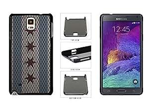 Metal Chicago Flag Plastic Phone Case Back Iphone 5C Kimberly Kurzendoerfer