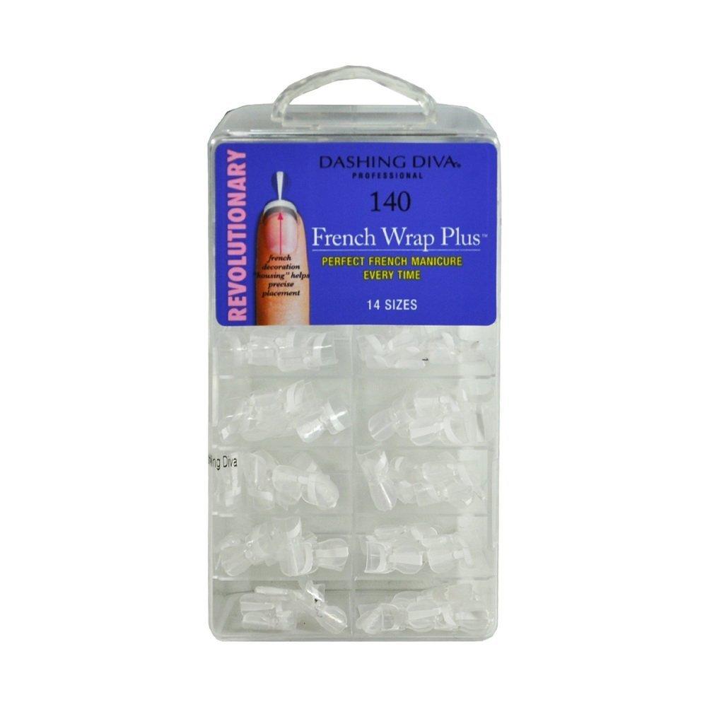 Dashing Diva - French Wrap Plus - THIN - White - 140ct