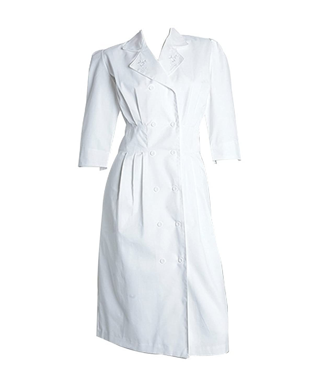Prima by Barco Uniforms Women's Embroidered Tuck Waist Scrub Dress