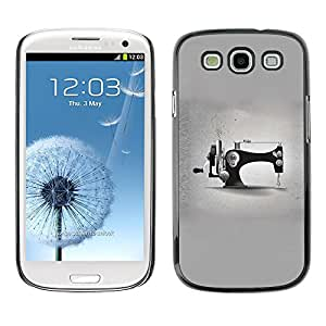 X-ray Impreso colorido protector duro espalda Funda piel de Shell para SAMSUNG Galaxy S3 III / i9300 / i747 - Grey Designer Fashion Minimalist