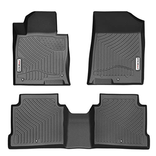 YITAMOTOR Waterproof Floor Mats Compatible for 2016-2019 Kia Optima / 2015-2019 Hyundai Sonata, All Weather Heavy Duty Floor Liners for Car - Black