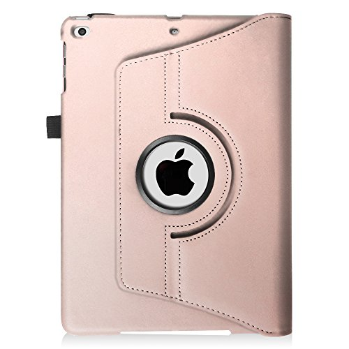 Fintie New iPad 9.7 inch 2017 / iPad Air Case - 360 Degree Rotating Stand Cover with Auto Sleep Wake for Apple New iPad 9.7 inch 2017 Tablet / iPad Air 2013 Model, Rose Gold Photo #9
