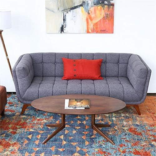 ASHCROFT Mid-Century Modern Allen Seaside Gray Sofa 78″