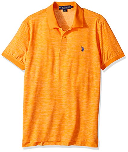 U.S. Polo Assn. Mens Classic Fit Solid Short Sleeve Poly Polo Shirt