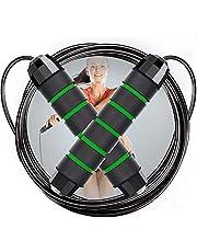 NOCHME Hopprep för vuxna tonåringar fitness kvinnor män, längd justerbar hastighet hopprep med trasselfri PVC-belagd stålkabel, hopprep för träning boxning fettförbränning, crossfit, MMA