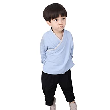Uniqstore Chinese Kung Fu Outfit Niños Baby Boy Tang Traje ...
