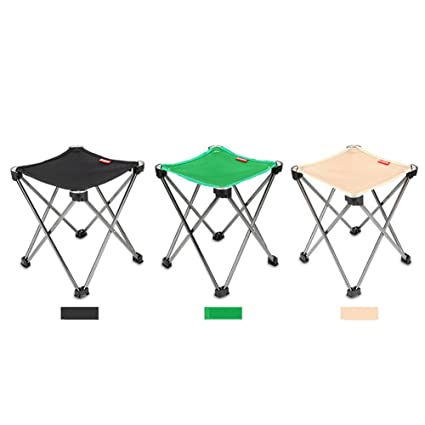 Taburete plegable portátil de aluminio, para camping, al aire libre, ligero, silla