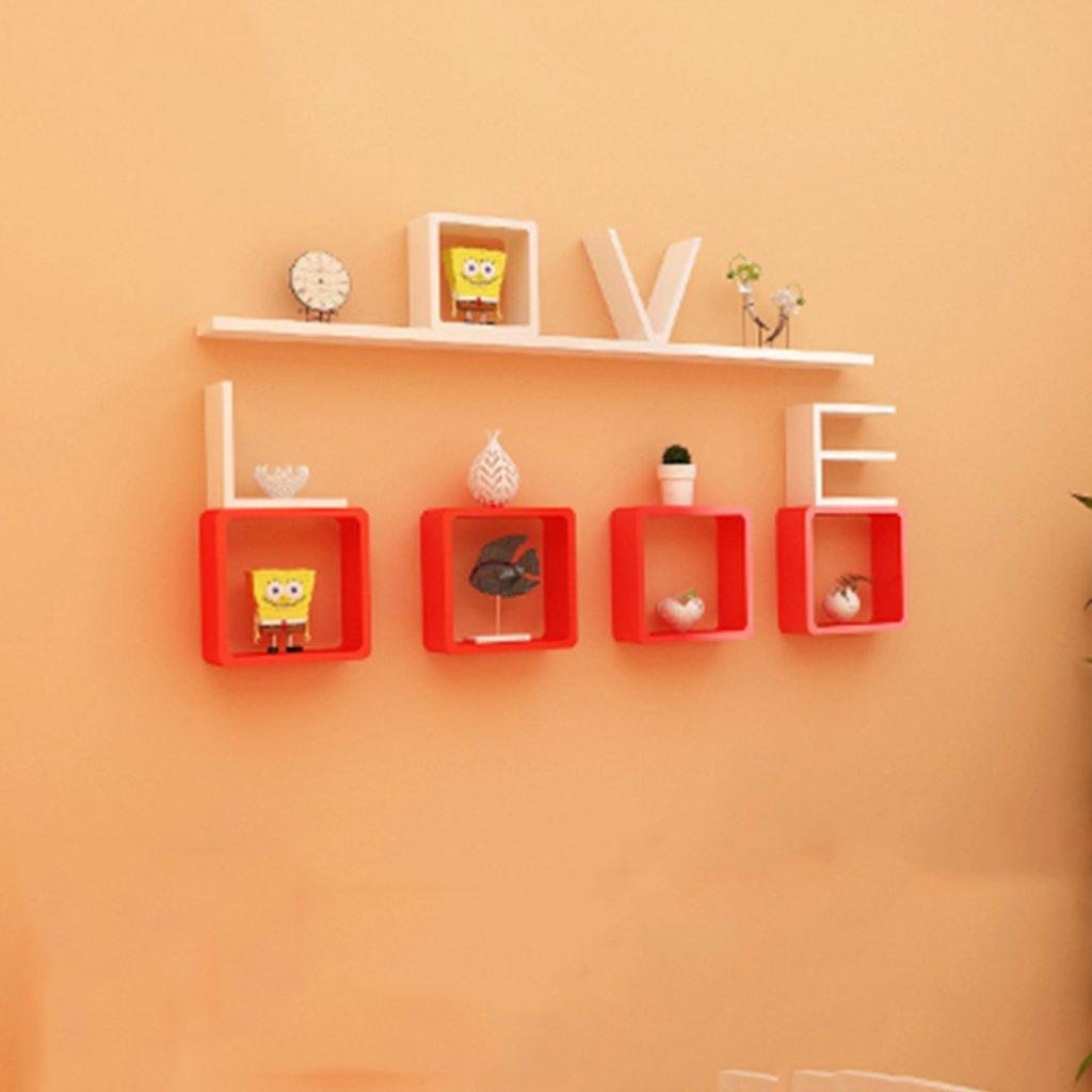 Wall Shelf LOVE Bedroom Floating Mount Shelf