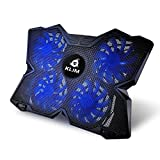 ⭐️ Klim Wind Laptop Cooling Pad - The Most Powerful Slim PC Fan Cooler for Computer - Rapid Cooling Action - 4 Fans Ventilated Support - Light & Quiet - USB Laptops Portable Gaming Stand (Blue)