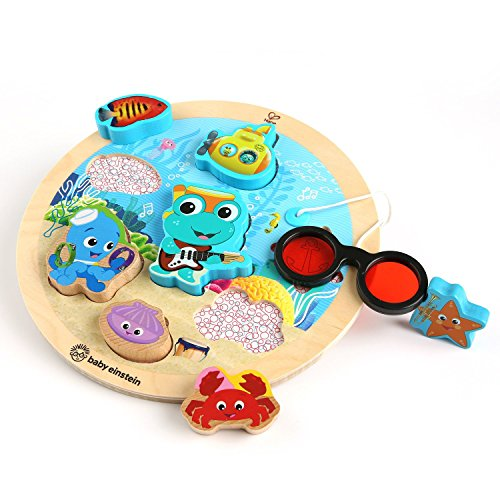 Baby Einstein Submarine Adventure Wooden Puzzle Toddler Toy, Ages 18 months and up