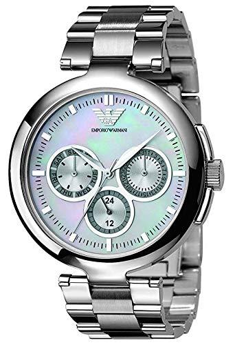 Emporio Armani AR0734 Ladies Donna White Silver Watch
