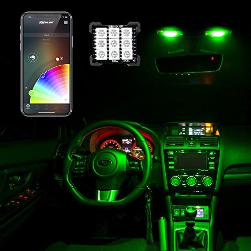 T10 Festoon - T10/BA9s/Festoon Bluetooth LED Panel Bulb XKchrome App Controlled wireless Car/Truck Interior Light LED, dome light, T10, BA9S, Festoon Adapters, 29 Ð 33mm festoon, 1156, 1157, 3156, 3157