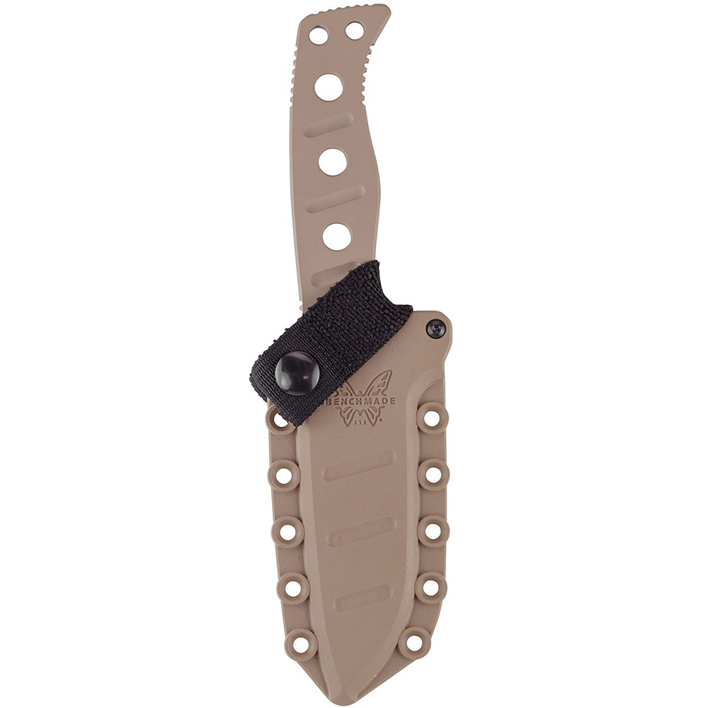 Benchmade - Fixed Adamas 375 Knife with Sand Sheath, Drop-Point Blade, Plain Edge, Coated Finish, Sand Handle by Benchmade (Image #3)