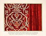 1924 Color Print Italian Velvet Velour Genes Brocatelle Fabric Textile Classic - Original Color Print