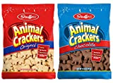 Stauffer's Animal Crackers Snack Cookies: Chocolate and Original [1 Bag of each]