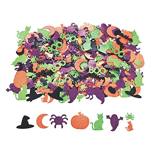 Glitter Self-Adhesive Halloween Shapes - Art & Craft Supplies & Foam Shapes -