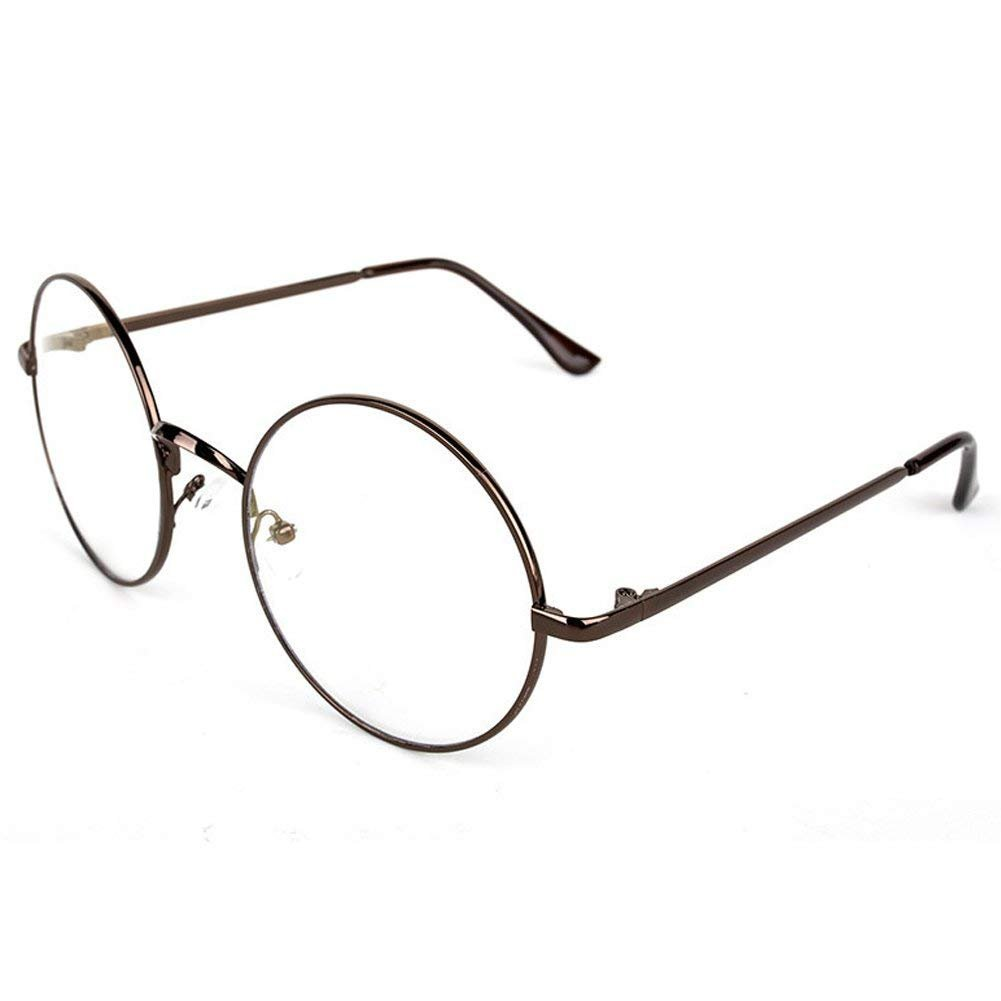 YTCYKJ Korean Version of The Retro Round Metal Glasses Frame (Bronze)