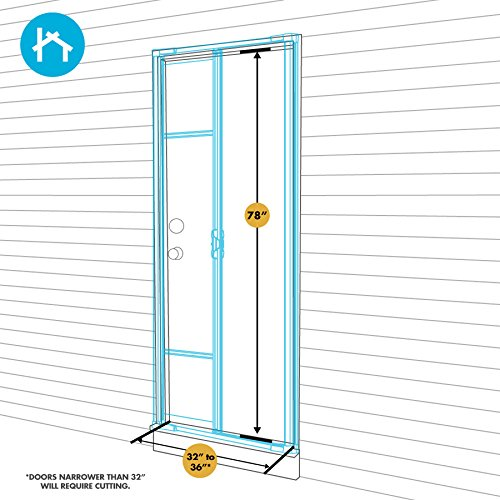 ODL Brisa Premium Retractable Screen for 78 in. Inswing/Outswing Hinged Doors - Bronze by ODL (Image #9)