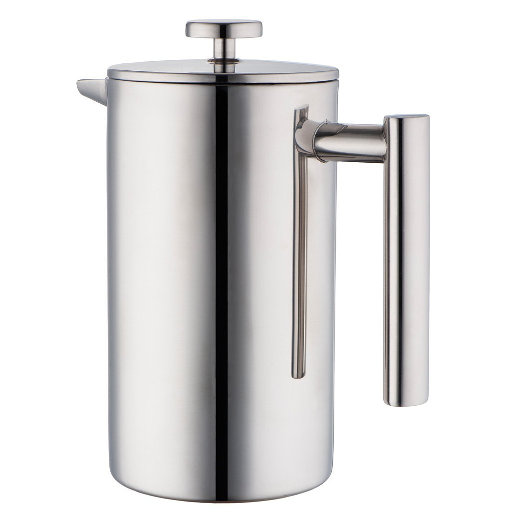 MIRA 20 oz All Stainless Steel French Press For Coffee or Tea | Double Wall Insulated Coffee Pot & Maker Keeps Brewed Coffee or Tea Warm for Hours | 600 ml Mira Brands SYNCHKG088417