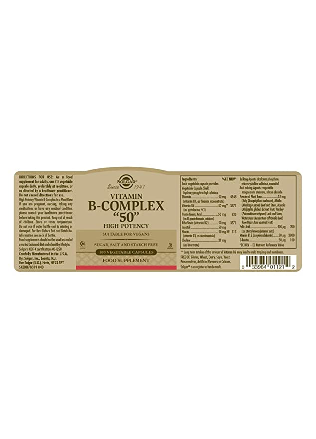 0975b00cc Solgar Formula Vitamin B-Complex