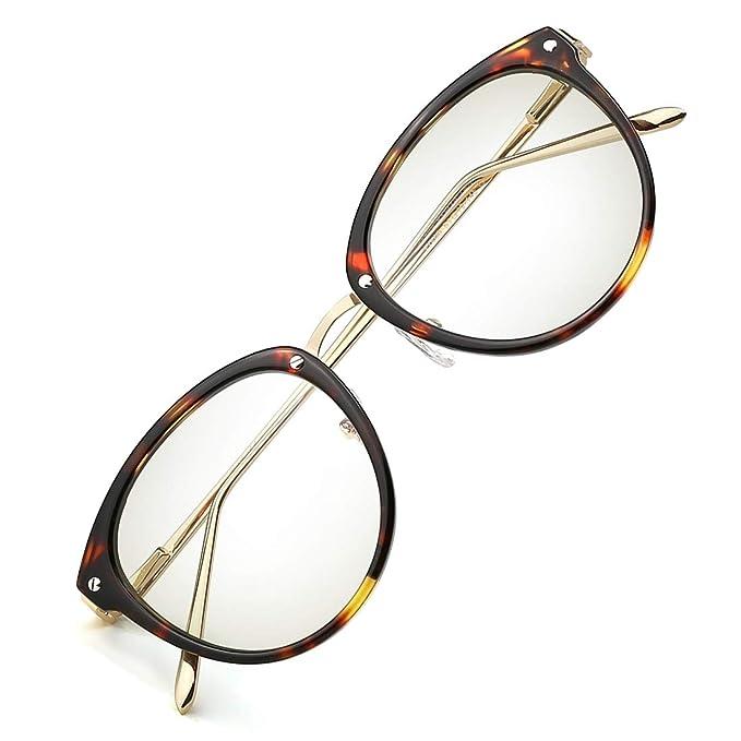 e313de918f17 Amazon.com: TIJN Blue Light Block Glasses|Round Optical Eyewear Non ...