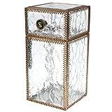 Jwelry Making Storage: Vintage Metal Glass Jewelry Box Make Up Organizer Bracelet Earring Storage Box Cosmetic Storage Box Makeup Organizer Storage