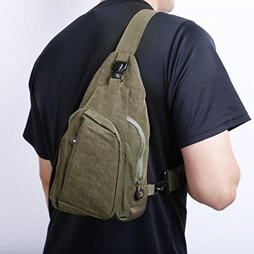 Green Packs Widewing Nylon Travel Unisex Messenger Sport Handbags Crossbody Shoulder Chest IHfAHv