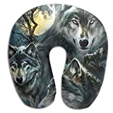 Scorpio Wolf Dog Animal Adult Size Travel Pillow Spa U SHAPE For Help Neck Pain Everybody