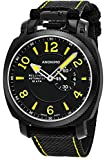 Anonimo Mens Military 43 MM Black Face Date Black Canvas/Leather Strap Swiss Mechanical Watch AM100002004A01