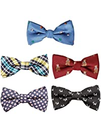 Stylish 5in1 Adjustable Boys Bow Tie Collection - Various Designs