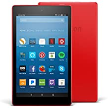 "All-New Fire HD 8 Tablet with Alexa, 8"" HD Display, 32 GB, Punch Red - with Special Offers"