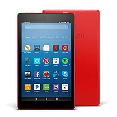 All-New Fire HD 8 Tablet with Alexa, 8  HD Display, 16 GB, Punch Red - with Special Offers