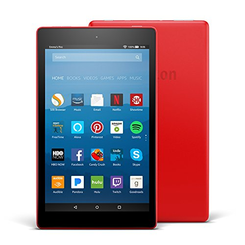 "Fire HD 8 Tablet with Alexa, 8"" HD Display, 32 GB, Punch Red - with Special Offers"