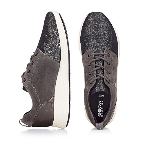 Geox D Ophira a, Zapatillas para Mujer Gris oscuro