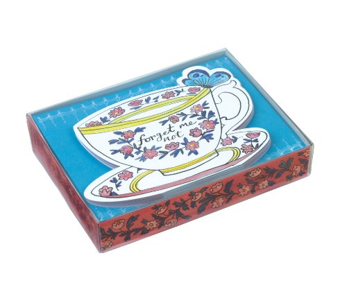 Molly Hatch Teacups Die-cut Notecards