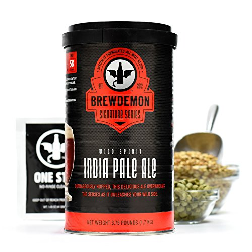3-Gallon Wild Spirit IPA Signature Beer Refill Kit by BrewDemon