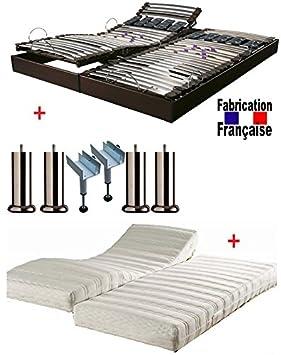 MEUBLEPRO Conjunto somier Relajación Eléctrico Eco-Energie látex arplus Dormir 160 x 200: Amazon.es: Hogar